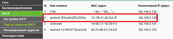 Проверка присвоенного IP адреса
